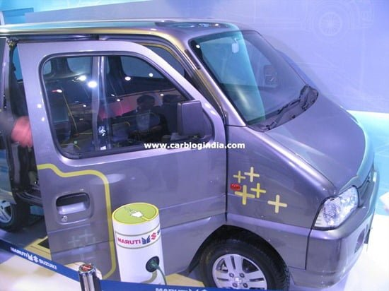 Maruti Suzuki EECO Charge – Electric Version Of EECO For Commonwealth Games Displayed At Auto Expo