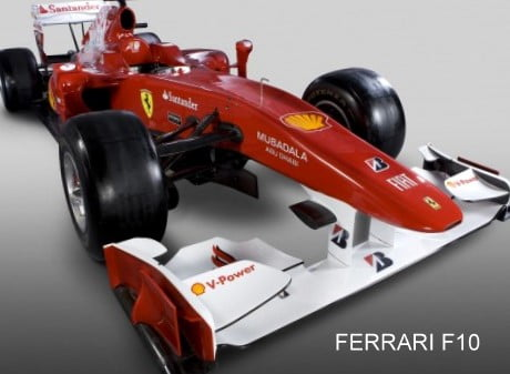 Ferrari 2010 F1 Challenger – The F10 – Features And Specifications