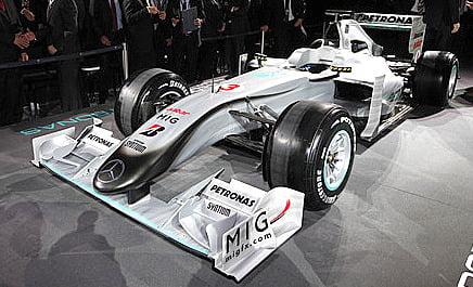 Mercedes 2010 F1 Car Revealed – The W01
