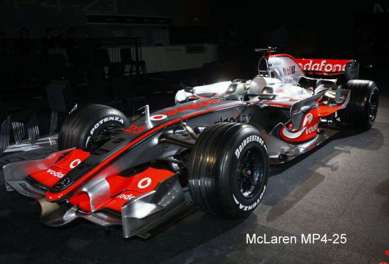 The 2010 F1 Car By McLaren – McLaren MP4-25 Detailed Specifications