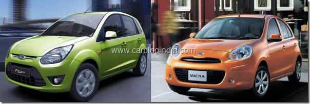 nissan micra vs ford figo