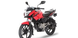 Bajaj Pulsar 135 LS Cocktail Wine Red front angle images