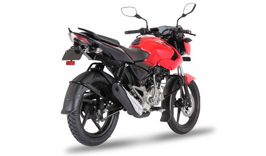 Bajaj Pulsar 135LS Cocktail Wine Red rear angle images