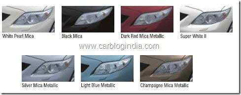 toyota corolla altis diesel india color options
