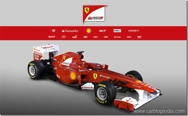 Ferrari F150 Formula One World Championship F1 Car For 2011