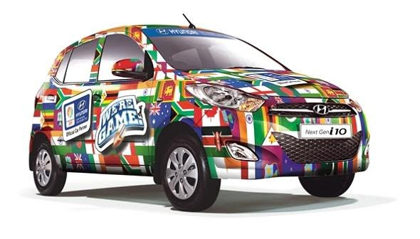 hyundai i10 world cup car