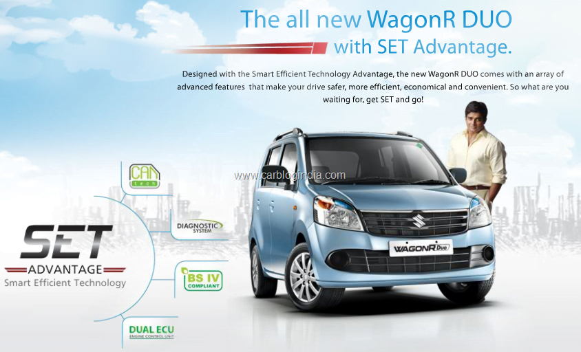 maruti wagon r duo 2011 with lpg launched details price features rh carblogindia com Wagon R 7 Seater Hyundai I20