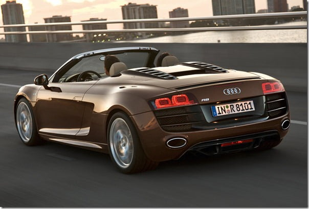 Audi R8 Spyder Convertible Supercar India Launch– Details Specifications Features & Price