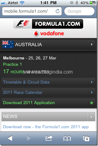 [Free] Official Formula 1 App Download For iPhone, Android, Nokia, Blackberry,Samsung and Java Phones