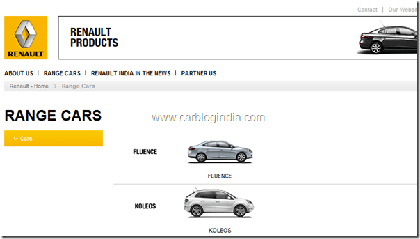 renault-india-website