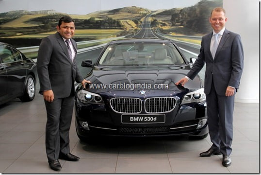 Dr Andreas Schaaf, President, BMW India with Mr Vishal Agarwal, Managing Director, Bavaria Motors, Pune