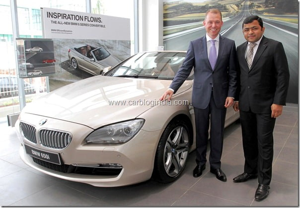 Dr. Andreas Schaaf, President, BMW India with Mr. Vishal Agarwal, Managing Director, Bavaria Motors