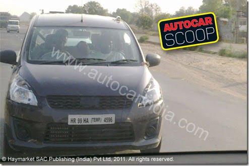 Maruti R3 MPV Spy images (1)