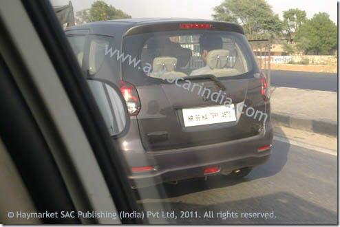 Maruti Suzuki R3 MPV Spy Pictures and Details