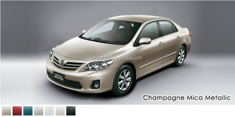 Toyota Corolla Altis 2011 New Model Colors Options In India