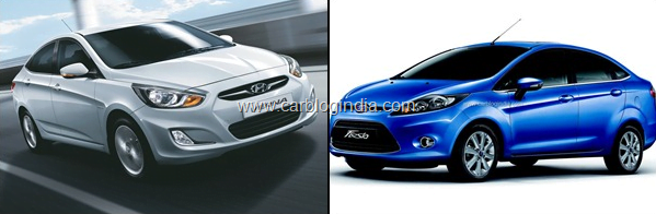 Ford Fiesta AT 2012 Vs Hyundai Verna Fluidic AT Petrol