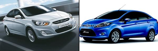 Ford Fiesta AT 2012 Vs Hyundai Verna Fluidic AT Petrol