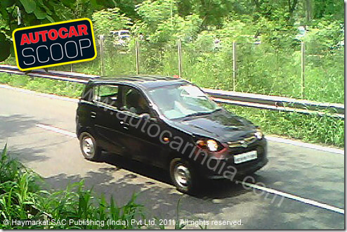 Maruti 800 Replacement Small Car Spotted–Spy Picture