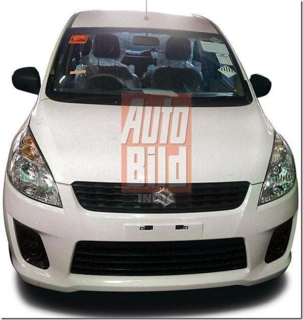 Maruti Suzuki R3 MPV India Clear Spy Pictures (1)