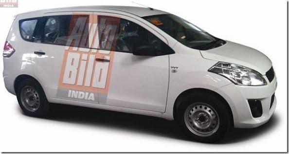 Maruti Suzuki R3 MPV India Clear Spy Pictures (2)