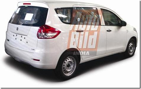 Maruti Suzuki R3 MPV India Clear Spy Pictures (3)