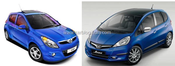 Honda Jazz 2011 Vs Hyundai i20 Petrol– Which Is Better And Why?