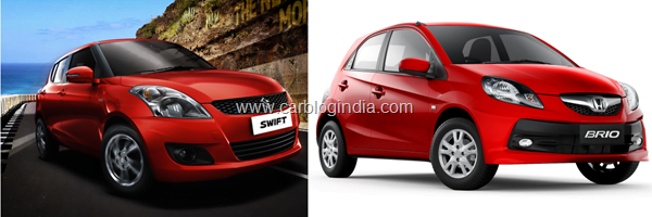 Honda Brio Vs Maruti Swift 2011