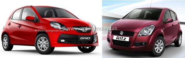 Honda Brio Vs Maruti Suzuki Ritz Petrol-Which Hatchback Is Better And Why?