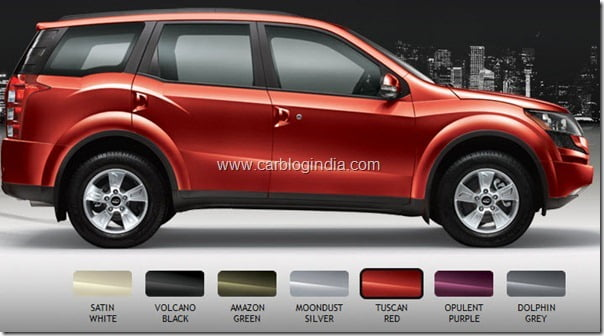 Mahindra XUV500 Colour Options