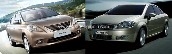 Nissan Sunny vs Fiat Linea