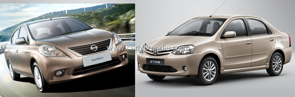 Nissan Sunny Petrol Vs Toyota Etios Petrol- Which Is Better And Why?