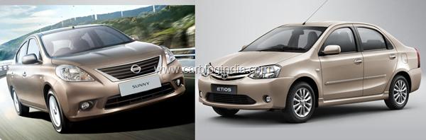 Nissan sunny vs toyota etios