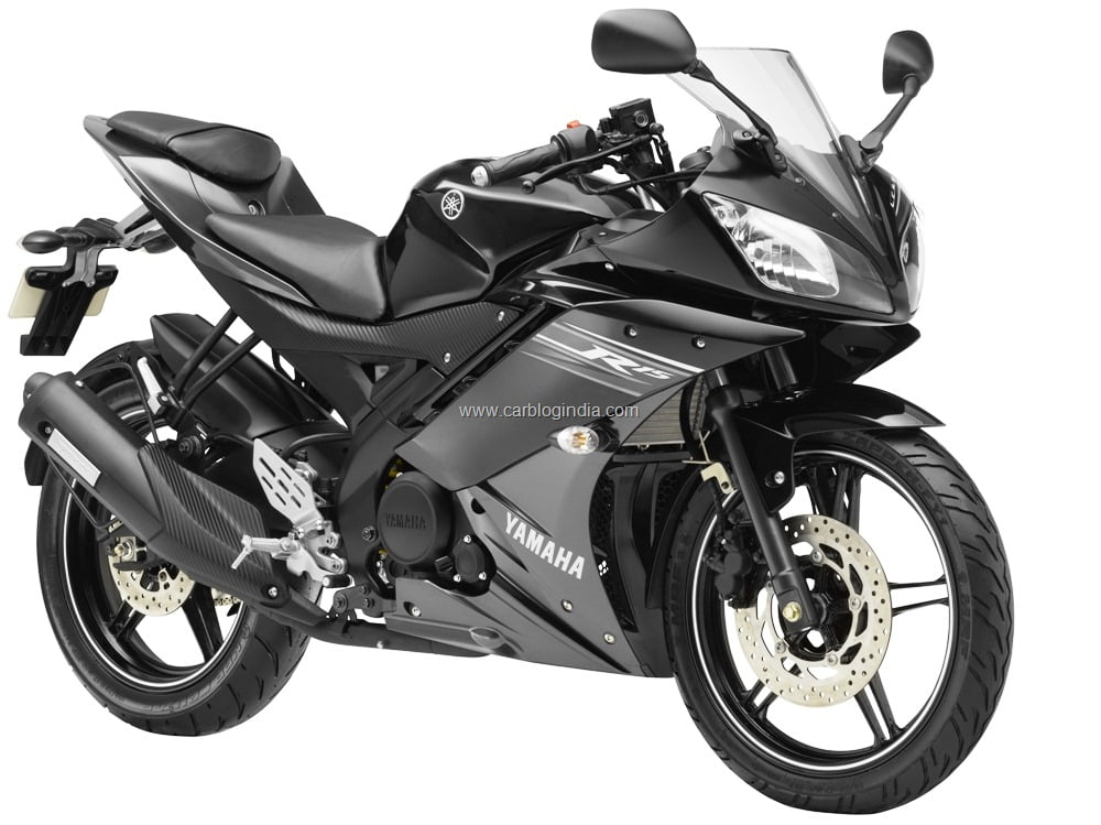 New model yamaha r15 2011 launched rs lakhs for Black is the new color