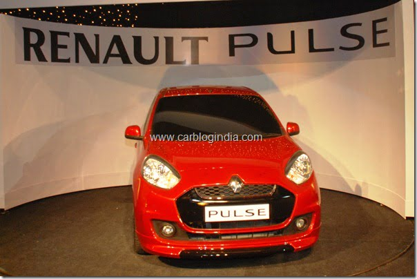 Renault Pulse Small Car Unveiled In India Officially– Looks Like Nissan Micra–Details Pictures and Price