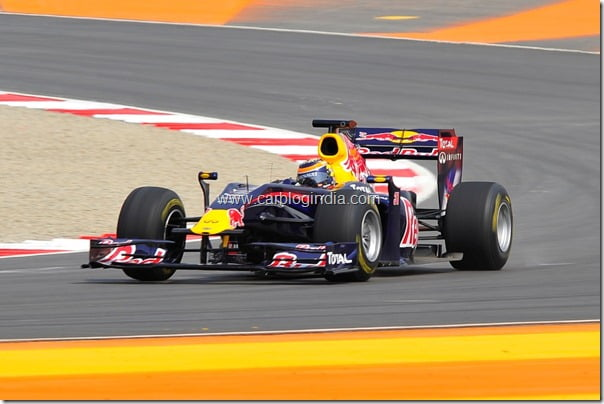 Red Bull Racing F1 Car At Buddh International Circuit