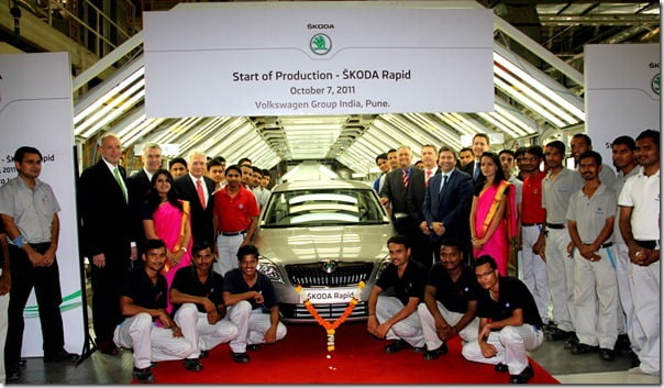 Skoda Rapid Production Starts in India