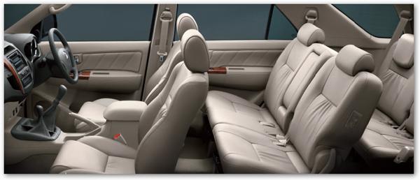 Toyota Fortuner Interiors