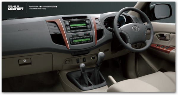 toyota Fortuner interiors 2