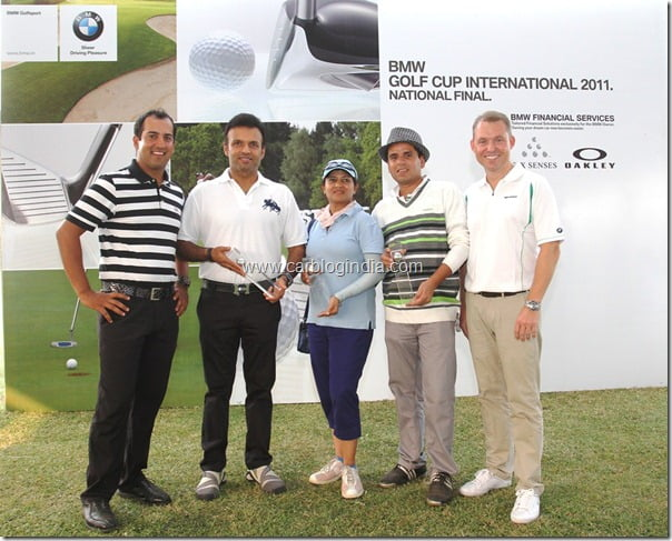 Dr. Andreas Schaaf, President, BMW India and Mr. Shiv Kapoor with the Winners