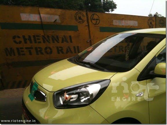 Kia Picanto Small Car Spied Testing In India (2)