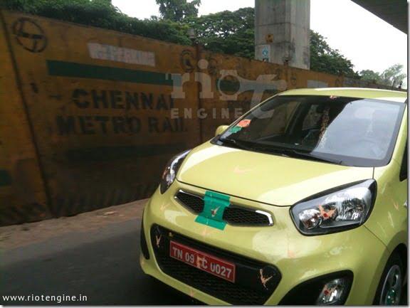 Kia Picanto Small Car Spied Testing In India (3)
