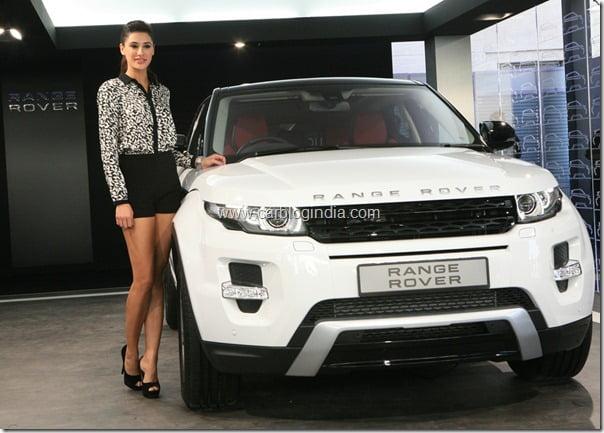Nargis Fakhri (Rockstar fame) unveiling Range Rover Evoque