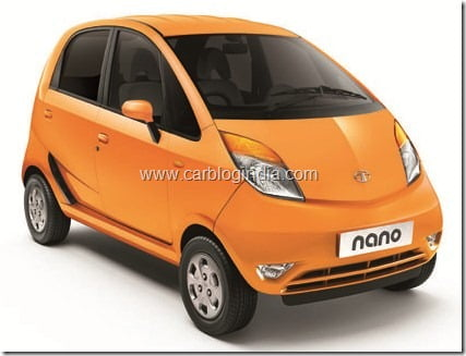 Tata Nano LX - Papaya Orange