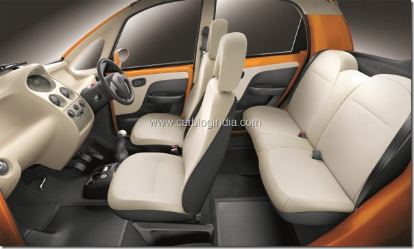 Tata Nano LX - side view - interiors