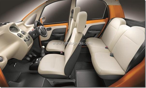 Tata Nano LX - side view - interiors