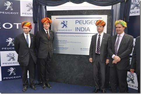 Peugeot Starts Building Plant At Sanand Gujarat, India