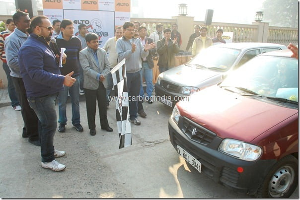 Alto rally being flagged off