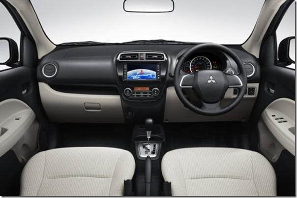 Mitsubishi Mirage small car interior