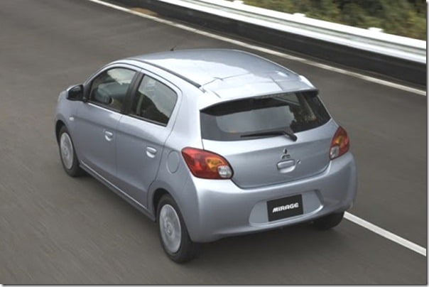 Mitsubishi Mirage small car rear