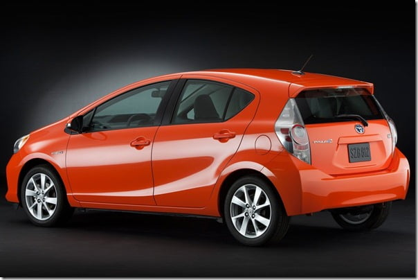 Toyota-Prius_C Compact Hybrid rear